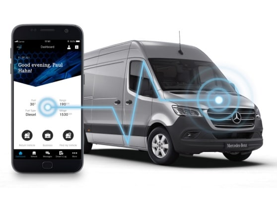 Kommunikationsmodulen anas i nya Sprinter samt Mercedes PRO connect App